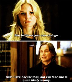 """Emma: 'She [Belle] believes you can change.' Rumplestiltskin: 'And I love her for that, but I fear she is quite likely wrong.' - 4.8 """"Smash the Mirror"""""""