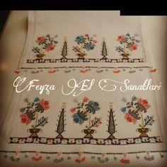 """#hesapisi #elnakisi #musabak #hayatagaci #handmade #handcraft #handembroidery #elisi #nakis #embroidery #ceyiz #ceyizlik #mefrusat #runner #cloth…"""