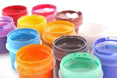 make your own face paint! awesome! one tsp cornstarch or baby powder, 1/2 tsp cold cream, 1/2 tsp water in a baby food jar. mix well, add food coloring one drop at a time. start w primary colors.
