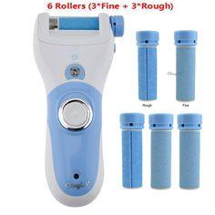 Hot Oplaadbare Voetverzorging Tool + 6 Roller Elektrische Pedicure Peeling Dode Huid Verwijderen Voeten Zorg Machine Persoonlijke Zorg Voor voeten