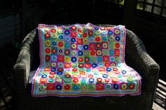 A personal favourite from my Etsy shop https://www.etsy.com/uk/listing/454194678/floral-crochet-granny-squares-throw
