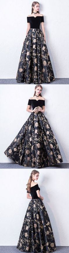 Black off shoulder long prom dress, black evening dress,part.- Black off shoulder long prom dress, black evening dress,party dress File large - Black Evening Dresses, Black Prom Dresses, Prom Party Dresses, Trendy Dresses, Elegant Dresses, Cute Dresses, Beautiful Dresses, Casual Dresses, Fashion Dresses