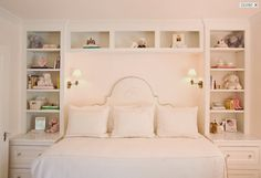 Courtney Hill Interiors: Pretty pink girl's room with white built-in cabinets & shelves, white silk damask .Get inspired by Courtney Hill Interiors The best Texas interior design ideas Home Bedroom, Girls Bedroom, Master Bedroom, Bedroom Decor, Girls Daybed, Bedroom Ideas, Bedroom Small, Stylish Bedroom, Bedroom Inspiration