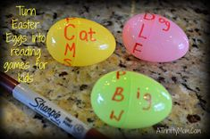 Easy Kid Games ~ Turn Easter Eggs Into Reading Games for Kids