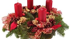 Advent Wreath With Red Candles Isolated On White. Royalty Free Stock Photo, Pictures, Images And Stock Photography. Christmas Advent Wreath, Christmas Candles, Christmas Time, Christmas Crafts, Christmas Wedding Centerpieces, Christmas Floral Arrangements, Christmas Table Decorations, Candle In The Dark, Red Candles