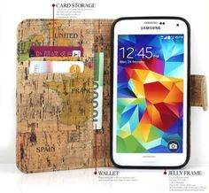 Geography Vintage Premium Diary Case for Galaxy S4 Active