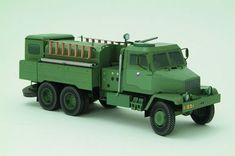 This vehicle paper model is a Praga V3S CAS16 Vojenska Truck, created by PK Graphica, and the scale is in 1:32. For more Praga V3S paper models please click here.