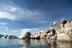 Lake Tahoe engagement photography.