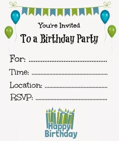 Free printable birthday invitations, Printable birthday ... Free Printable Birthday Invitations For Kids #freeprintables #birthday #invitation #kids #girls