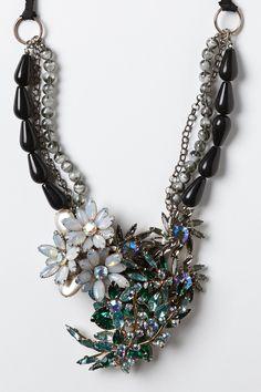 Vintage Brooch Necklace - Anthropologie.com
