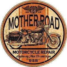 Tin Sign Mother Road Repair