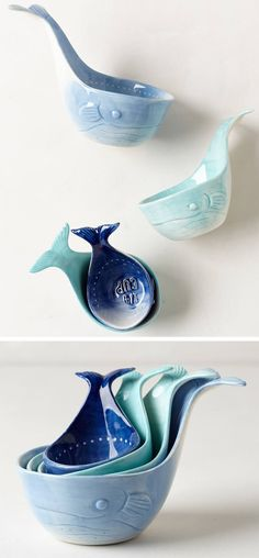 Whale-Tail Measuring Cups.