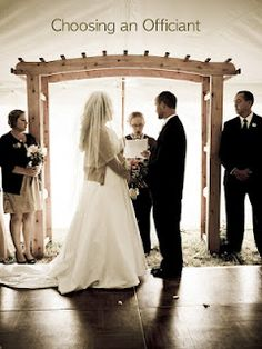 Information on how to choose an officiant for your wedding!