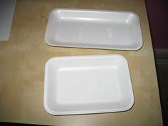 Shrinky Dinks made from Styrofoam meat trays!