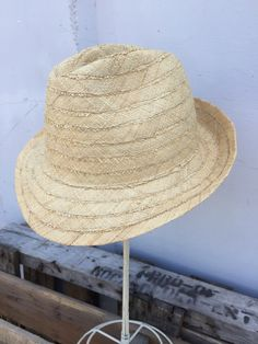 Shebobo: new crepe fedora. Natural color only