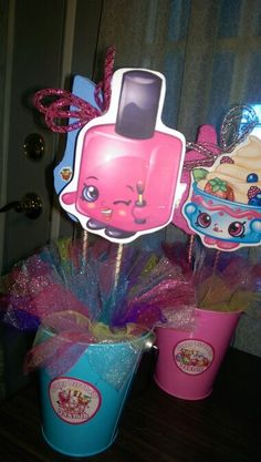 DIY centerpieces with Shopkins clipart 9th Birthday Parties, Birthday Fun, Birthday Ideas, Shopkins Bday, Birthday Decorations, Party Planning, Party Time, Centerpieces, Party Ideas