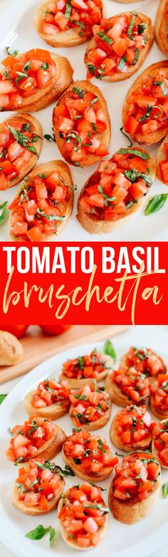 Fresh and delicious Tomato and Basil Bruschetta that is super flavorful, so easy to make and such a huge crowdpleaser when entertaining!