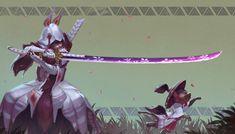 ArtStation - Mizutsune blademaster set, Nick Gan