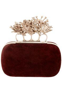 Alexandre Mcqueen, Alexander Mcqueen Clutch, Plaid Fashion, Fashion Bags, Fashion Women, Winter Fashion, Burgundy Fashion, 1930s Fashion, Fashion Plates