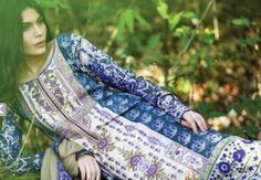 Sana Safinaz summer 2014 lawn collection having colorful designs and versatile summery fabric.
