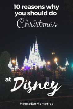 Disney World is amazing year round but especially at Christmas time. Here's 10 important reasons you should plan your next trip during the holidays at Disney! #disney #disneyworld #christmas