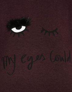 Camiseta print ojo - Camisetas - Bershka España