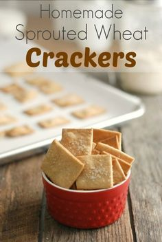 Ad: Homemade whole wheat crackers are EASY to make! This recipe uses King Arthur sprouted wheat flour. Great for a healthy snack! Real Food Recipes, Snack Recipes, Flour Recipes, Thm Recipes, Family Recipes, Bread Recipes, Recipies, Wheat Crackers, Homemade Crackers