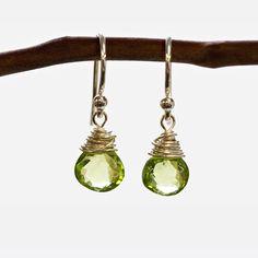 Peridot Wire Earrings