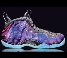 buy online dc749 8b336 Nike s Foamposite Galaxy Shoe, Releasing On Friday, Already Has Crazy Fans  Camping Out