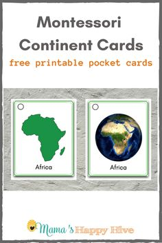 Montessori Continent Learning Activities - Mama's Happy Hive