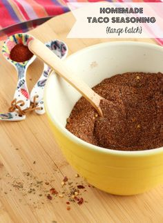 Homemade Taco Seasoning (Large Batch) | RachelCooks.com