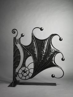 Wrought iron 'Fossil' gate by Bexsimon... neat, in a Tim Burton kind of way.