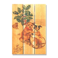 Sleigh Dogs 16x24-inch Indoor/ Outdoor Full Color Wall Art