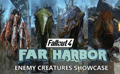 Far Harbor Enemy Creature Showcase - Fallout 4