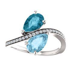 14kt White Aquamarine, London Blue Topaz & 1/8 CTW Diamond Ring #Serenity #pantone Locate a Jeweler Here: http://www.stuller.com/locateajeweler?searchTerm=locate%20a%20jeweler