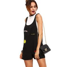 Watch this product and see why millions are pouring in Womens Overalls S... a great product you can count on here http://www.costbuys.com/products/womens-overalls-summer-casual-jumpsuits-and-rompers-black-patch-scoop-neck-sleeveless-strap-pockets-romper?utm_campaign=social_autopilot&utm_source=pin&utm_medium=pin