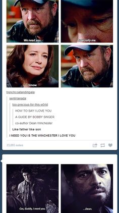 """""""I need you"""" is the Winchester """"I love you."""""""