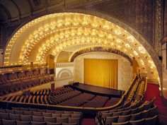 Auditorium Building, Chicago Illinois. 1889. Louis Sullivan and Dankmar Adler. Frank Lloyd Wright was a draftsman for this project.