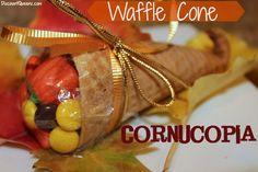 DIY  Waffle Cone Cornucopias!
