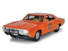 Johnny Lightning 1:25 Dodge Charger Diecast Model Car 783 7967 This Dodge Charger `General Lee` (1969) Diecast Model Car from Dukes of Hazzard is Orange and features working wheels and also opening bonnet with engine. It is made by Johnny Lightning and is 1:25 scale (approx. 22cm / 8.7in long).    The Dukes of Hazzard TV series followed the adventures of two good old boys, Bo and Luke Duke, living in an wild area of the fictional Hazzard County, racing around in their modified 1969 Dodge…
