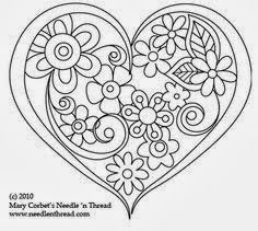 Hand Embroidery Pattern: Heart o' Flowers Free Hand Embroidery Pattern: Heart o' Flowers. I need to applique this pattern.Free Hand Embroidery Pattern: Heart o' Flowers. I need to applique this pattern. Embroidery Hearts, Paper Embroidery, Hand Embroidery Patterns, Vintage Embroidery, Cross Stitch Embroidery, Machine Embroidery, Embroidery Designs, Embroidery Tattoo, Embroidery Letters