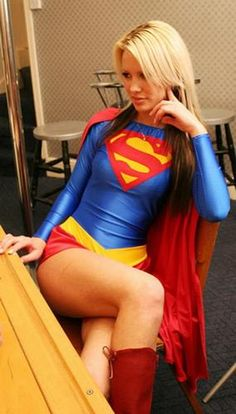Supergirl cosplay.
