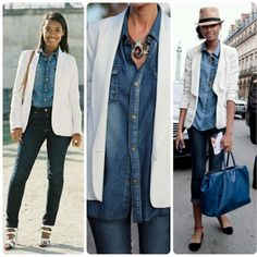 Inspired by Pinterest: Weekend Wear | Denim on Denim with a White ...