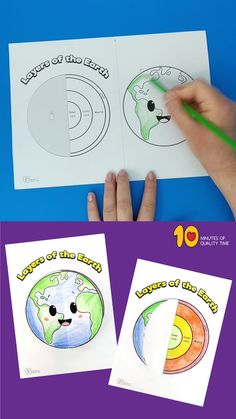 Layers of the Earth Projects For Kids Earth Science Projects, Earth Science Activities, Space Activities For Kids, Science Experiments Kids, Science Classroom, Science Education, Teaching Science, Science For Kids, Earth Science Lessons