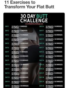 Butt And Abs Workout Challenge You Can Do From Home
