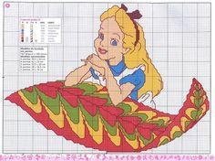 Alice in wonderland -- free cross stitch pattern