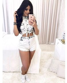 Pin by anniuu peterson crespo on moda short's in 2019 Other Outfits, Short Outfits, Sexy Outfits, Casual Outfits, Girl Outfits, Summer Outfits, Cute Outfits, Fashion Outfits, Cute Fashion