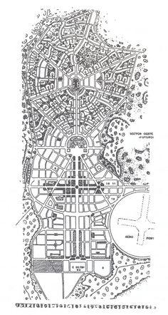 Attílio Corrêa Lima se formou engenheiro-arquiteto na Escola Nacional de Belas Artes, no Rio de Janeiro, em 1925. Ainda estudante trabalhou no escritório que Agache abriu no Rio, para desenvolver o… Urban Design Diagram, Urban Design Plan, City Skylines Game, Urban Stories, City Layout, Landscape And Urbanism, Skyline Design, Urban Analysis, Abstract City