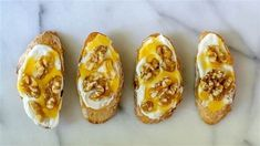 Honey walnut bruschetta