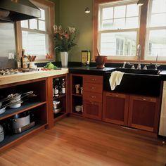 Devine Green Tea brewing in the kitchen. By Emerick Architects. #devinecolor #devinegreentea #paint